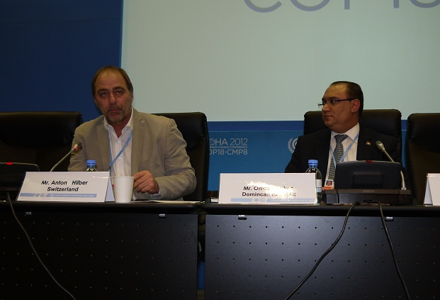 Anton Hilber, Co-Director, GPCC, SDC, Switzerland; H.E. Omar Ramírez Tejada, Executive Vice President, CNCCMDL, Dominican Republic