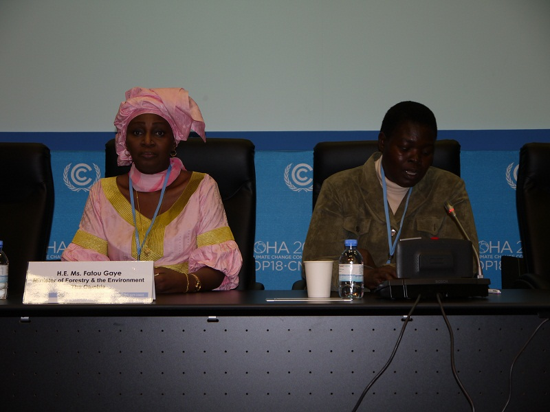 H.E. Fatou Gaye, Minister of Forestry and the Environment, The Gambia; and H.E. Flavia Nabugere Munabaa, Minister of State of Environment, Uganda