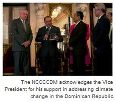 The NCCCCDM acknowledges the Vice President for his support in addressing climate change in the Dominican Republic