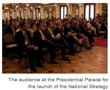 The audience at the Presidential Palace for the launch of the National Strategy