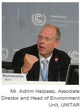 Mr. Achim Halpaap, Associate Director and Head of Environment Unit, UNITAR
