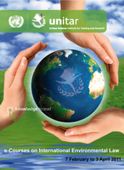 e-course on International Environmental Law poster