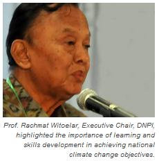Prof. Rachmat Witoelar, Executive Chair, DNPI