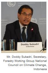 Mr. Doddy Sukadri, Secretary, Forestry Working Group National Council on Climate Change, Indonesia