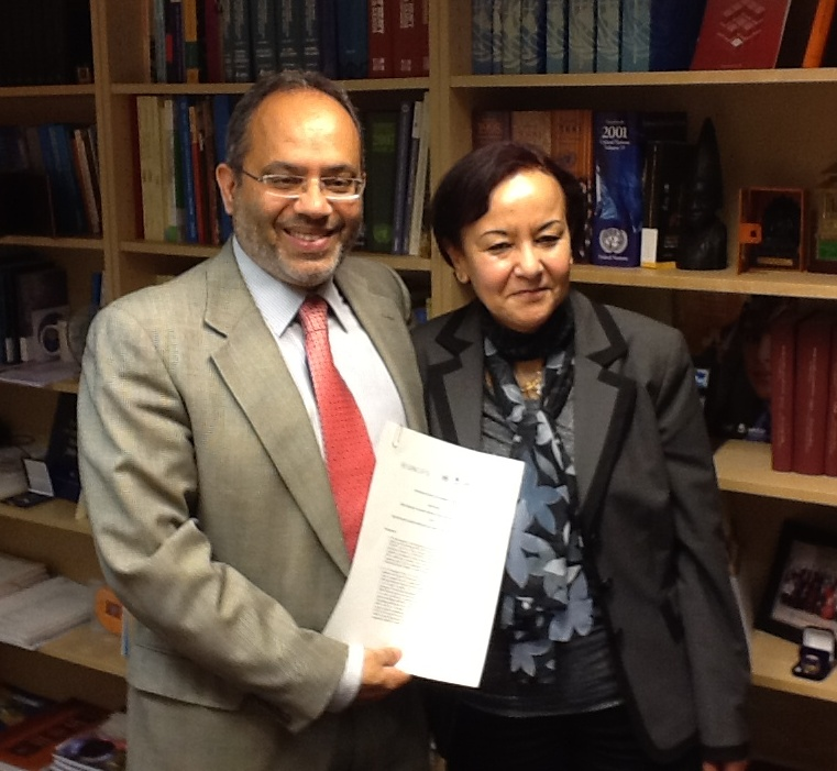 Mr. Carlos Lopes (left) and Ms. Fatiha Serour