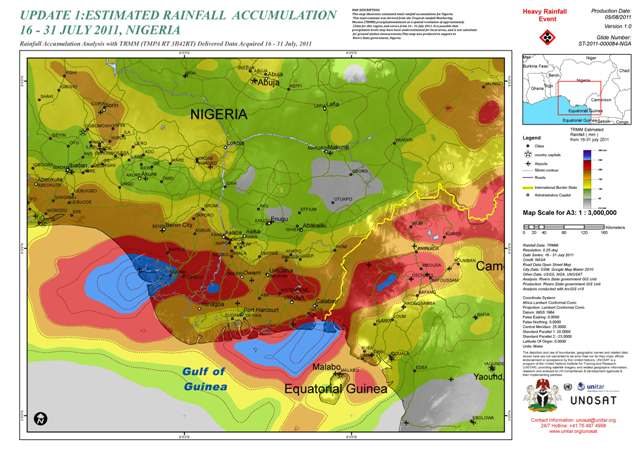 UNOSAT Nigeria rivers map