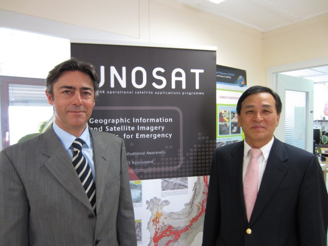 Francesco Pisano and the UN Chief IT Officer, Dr. Choi