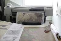 maps are printed in situ