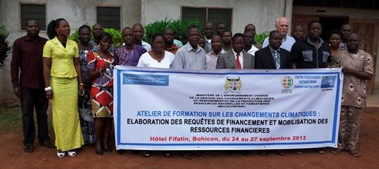 Participants of the training on climate change finance