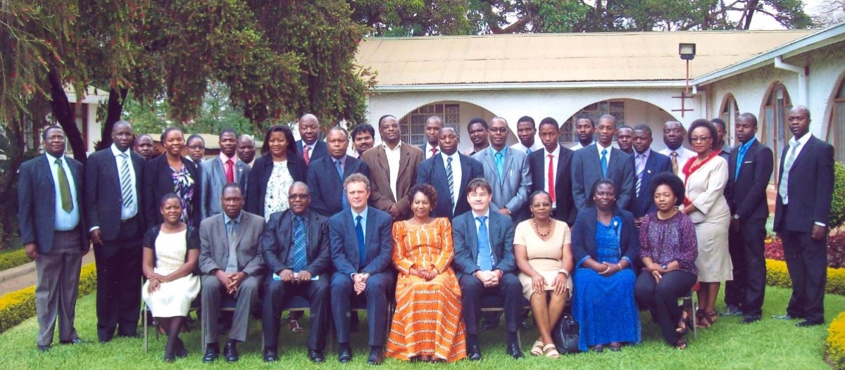 Group picture at the launch of the National Climate Change Learning Strategy of Malawi