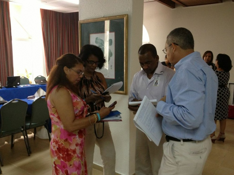 Workshop participants discussing