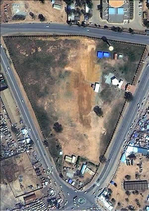 Satellite image of referendum voting station in Juba, southern Sudan