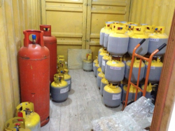 Capacitors and ODS wastes in storage in their respective temporary facilities