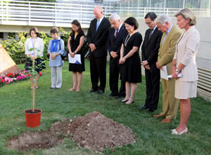 participants of the tree-planting ceremony