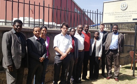 UNOSAT experts and IGAD staff during one of the consultations in the region