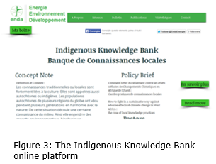 Indigenous Knowledge Bank online platform