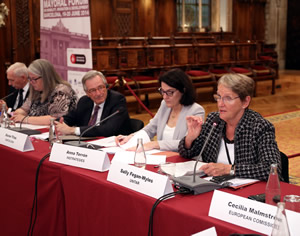 Sally Fegan-Wyles speaks at the Moyoral Forum in Barcelona 2014