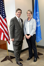 Dr. Dan Papp, President of Kennesaw State University and Mrs. Sally Fegan-Wyles, UNITAR Executive Director