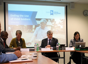 Round-table discussion on African Peacekeepers and Child Soldiers
