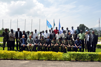 group photo of participants in the training of trainers workshop on security sector rerform