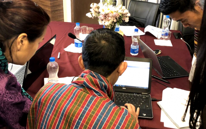 Photo 3: Participants for the UNITAR-UNOSAT to Enhance the Evidence-based Decision Making in Bhutan