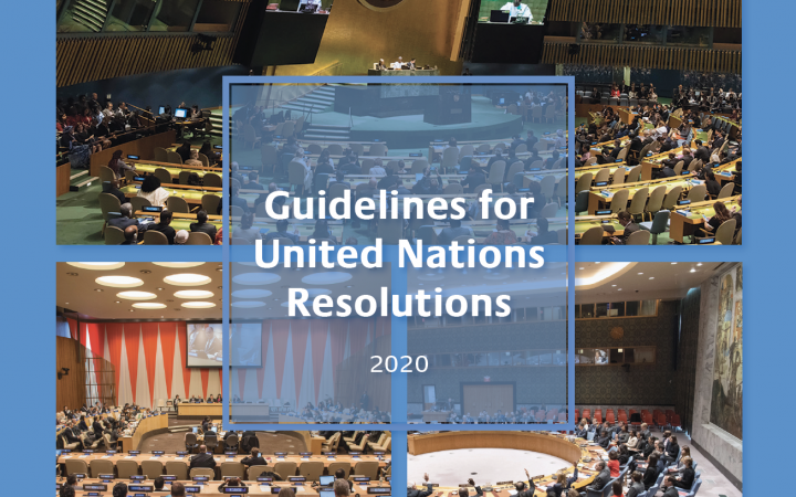 Guidelines for United Nations Resolutions