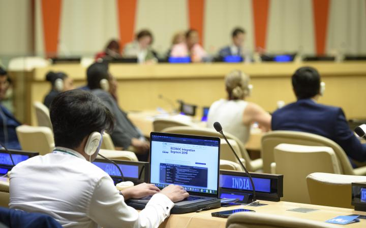 ECOSOC Briefing on HLPF on Sustainable Development