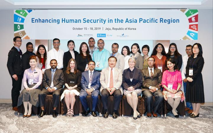 Photo group at the inauguration day of the Enhancing Human Security in the Asia Pacific Region workshop