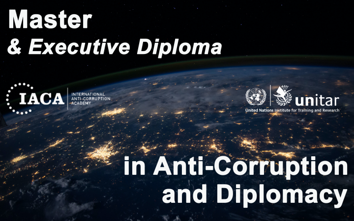 Master in Anti-Corruption and Diplomacy