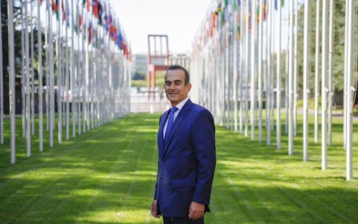 Rabih El-Haddad at the Palais des Nations