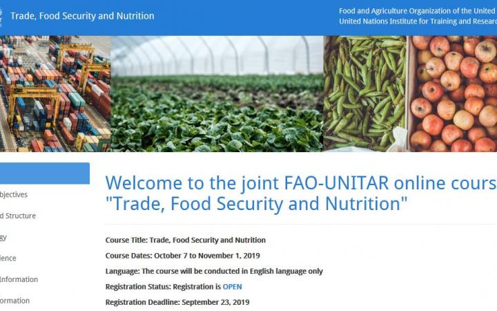 Trade, Food Security and Nutrition