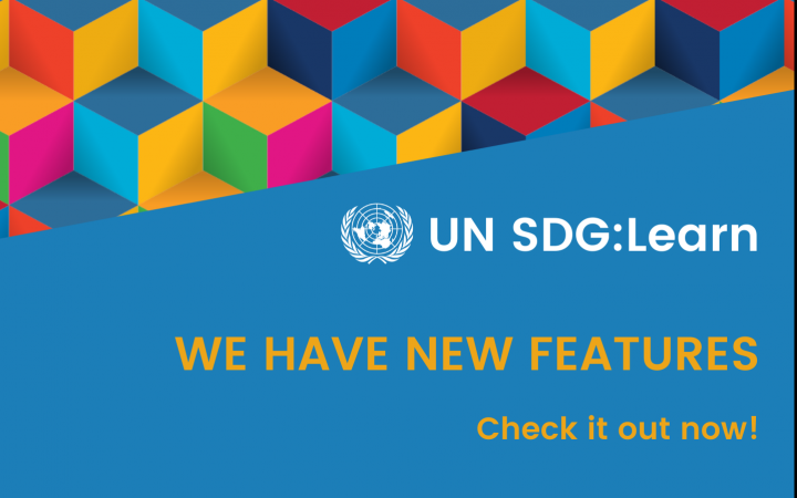 UN SDG:Learn has new functionalities