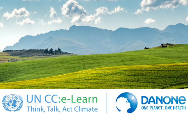 Through UN CC:Learn, UNITAR partners with Danone bringing education on climate change to drive sustainable change