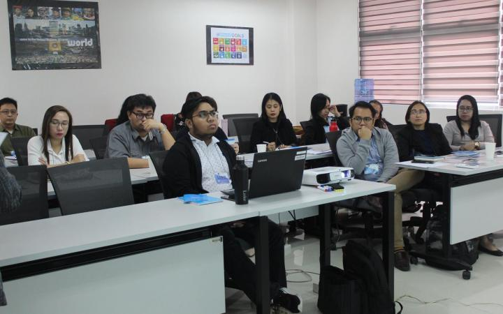Participants during the first module of the Global Migration Professional Course