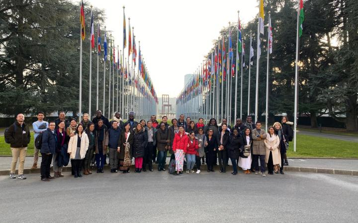Students from the Executive Master of Development Policies and Practices (DPP) at the Palais des Nations