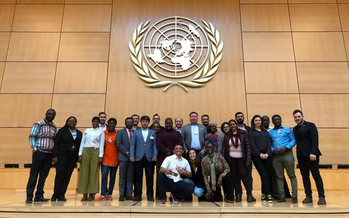 Photo group at the Palais des Nations