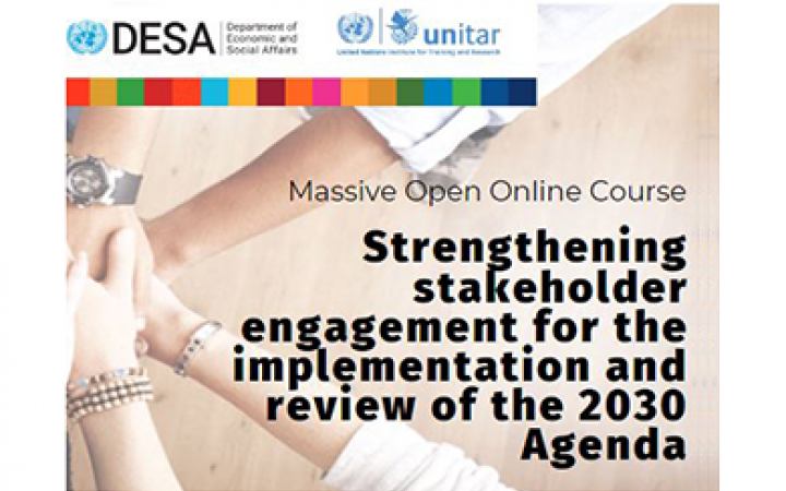 MOOC UNDESA and UNITAR Stakeholder Engagement