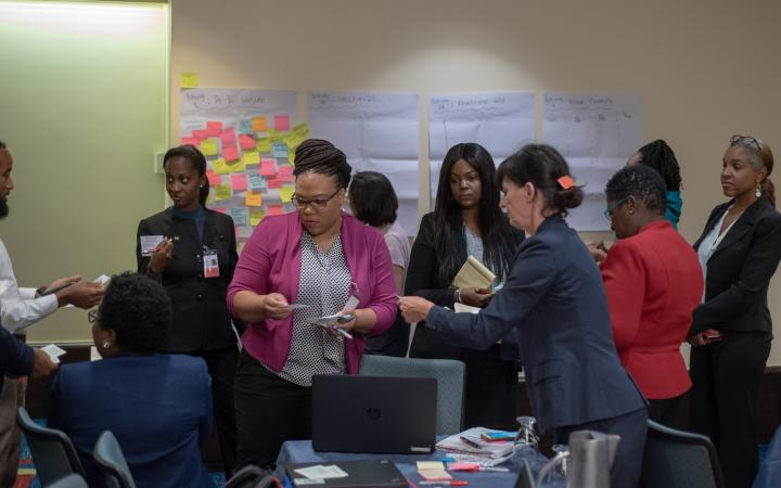 Group work at CARIBBEAN LEARNING CONFERENCE ON A HOLISTIC IMPLEMENTATION OF THE 2030 AGENDA