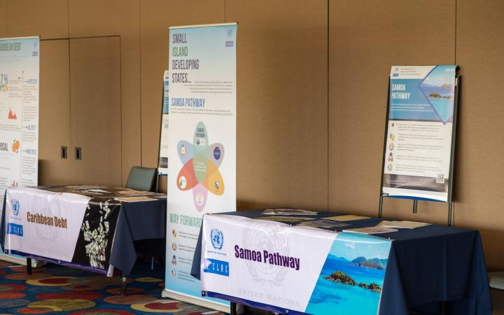 Samoa pathway stand at CARIBBEAN LEARNING CONFERENCE ON A HOLISTIC IMPLEMENTATION OF THE 2030 AGENDA
