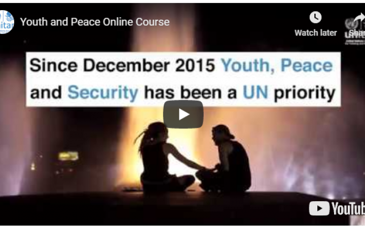 Youth and Peacebuilding Online Course