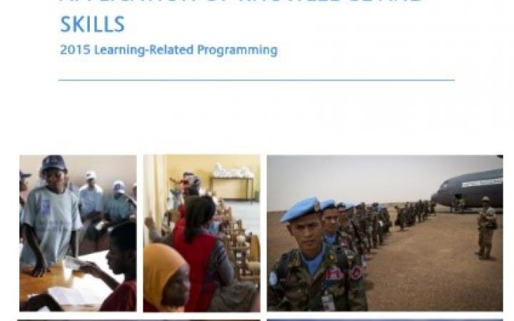 Evaluation on beneficiary application of knowledge and skills: 2015 learning-related programming