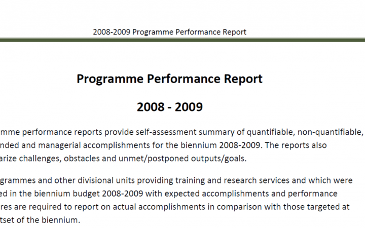 Report For the Biennium 2008-2009