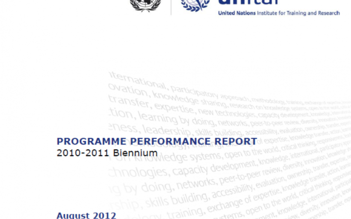 Report For the Biennium 2010-2011