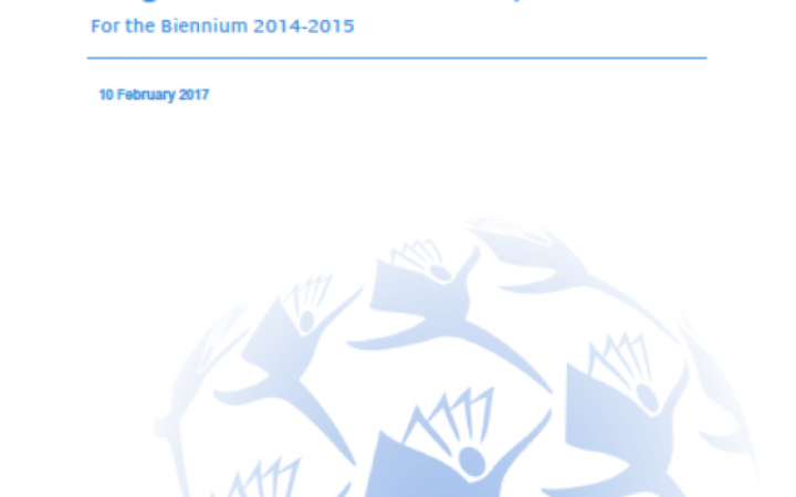 REPORT FOR THE BIENNIUM 2014-2015