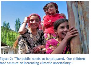 "Figure 2: ""The public needs to be prepared. Our children face a future of increasing climatic uncertainty""."