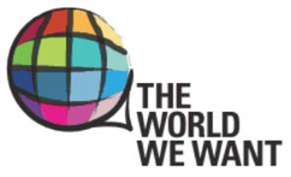 The World We Want logo