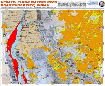 UNOSAT map on Sudan flooding
