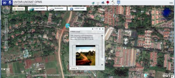 UNOSAT satellite photo analysis tool
