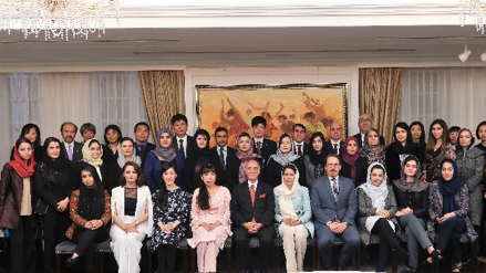 UNITAR Women's Leadership Programme for Afghanistan - Group Photo at the Embassy of Afghanistan in Japan