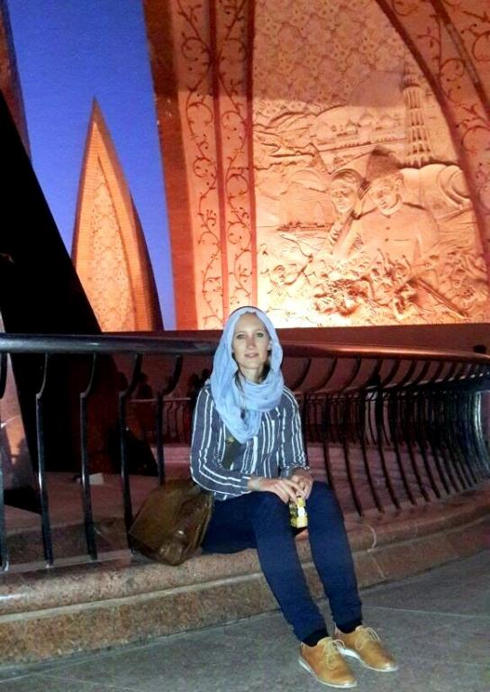 Ms. Katinka Koke at National Monument of Pakistan.